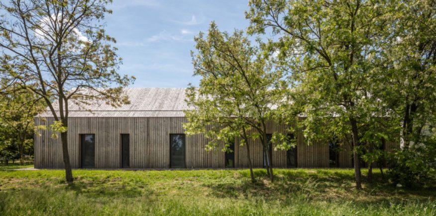 modern Hungarian farmstead