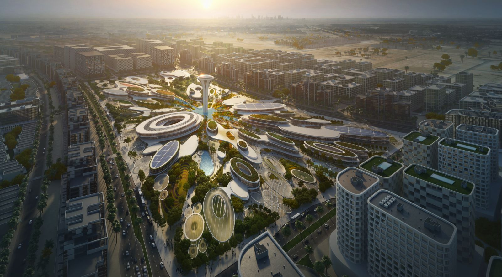 Aljada s central hub by zaha hadid architects 00 for Architecture 00