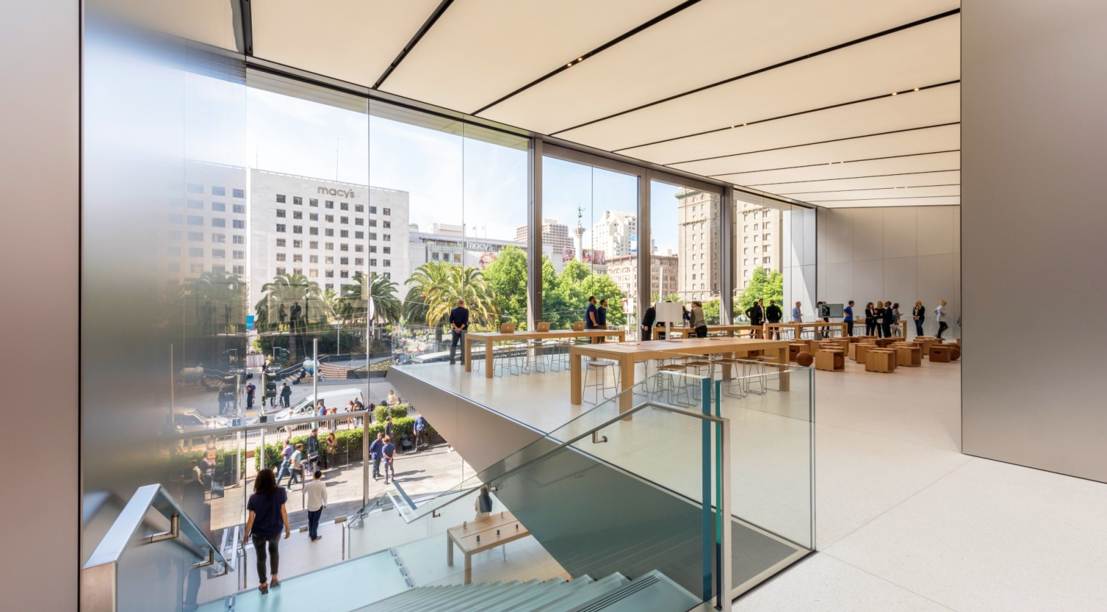Apple Union Square Revealed In San Francisco By Foster