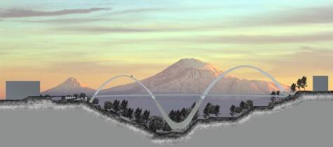 Ararat Bridge in Yerevan