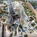 Baku Landmark Development by Adrian Smith + Gordon Gill Architecture