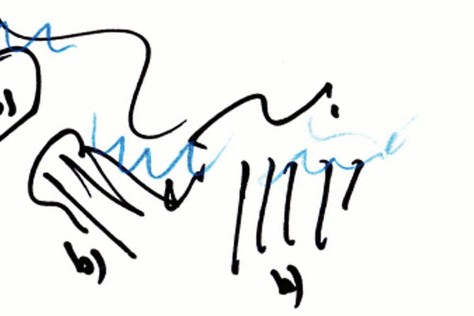 Sketch of Renzo Piano