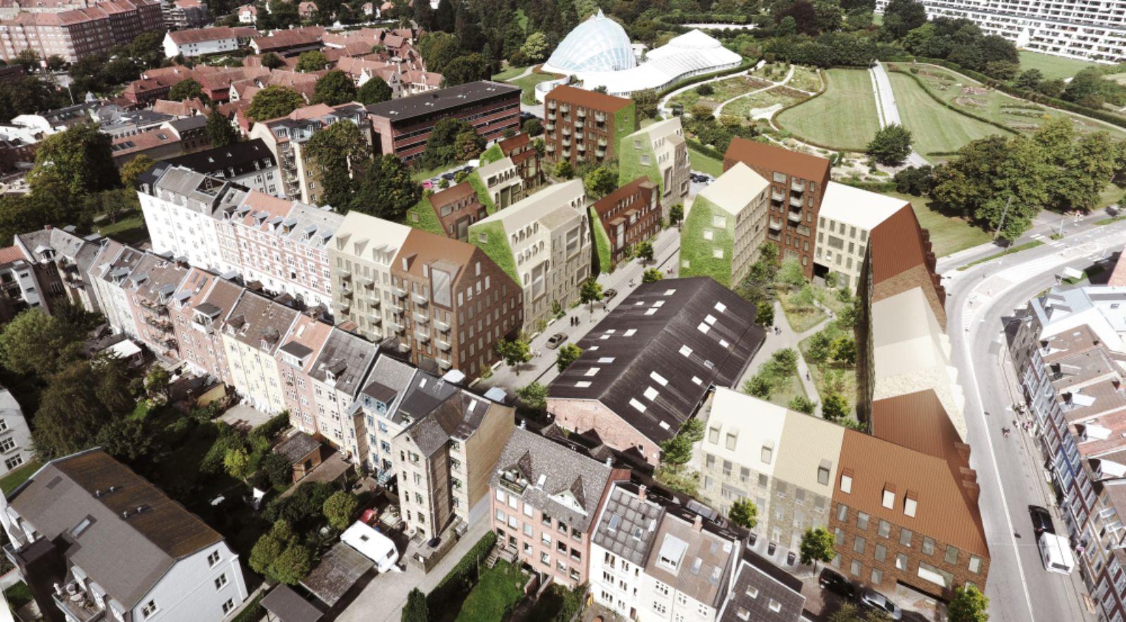new street in historic part of Aarhus