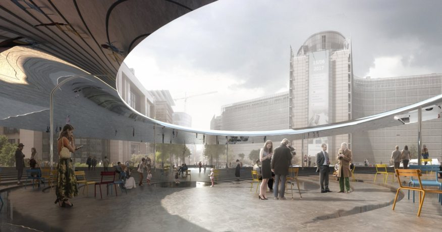 Cobe And Brut Won The Competition To Design Place Schuman