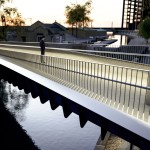 Camley Bridge for King's Cross canal crossing by Moxon Architects