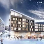 Climate optimized block at the Kiruna Square by Kjellander + Sjöberg Architects