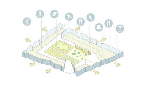 Climate optimized block at the Kiruna Square