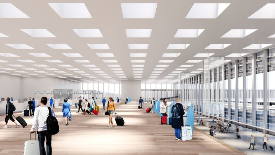new terminal at Amsterdam Airport Schiphol