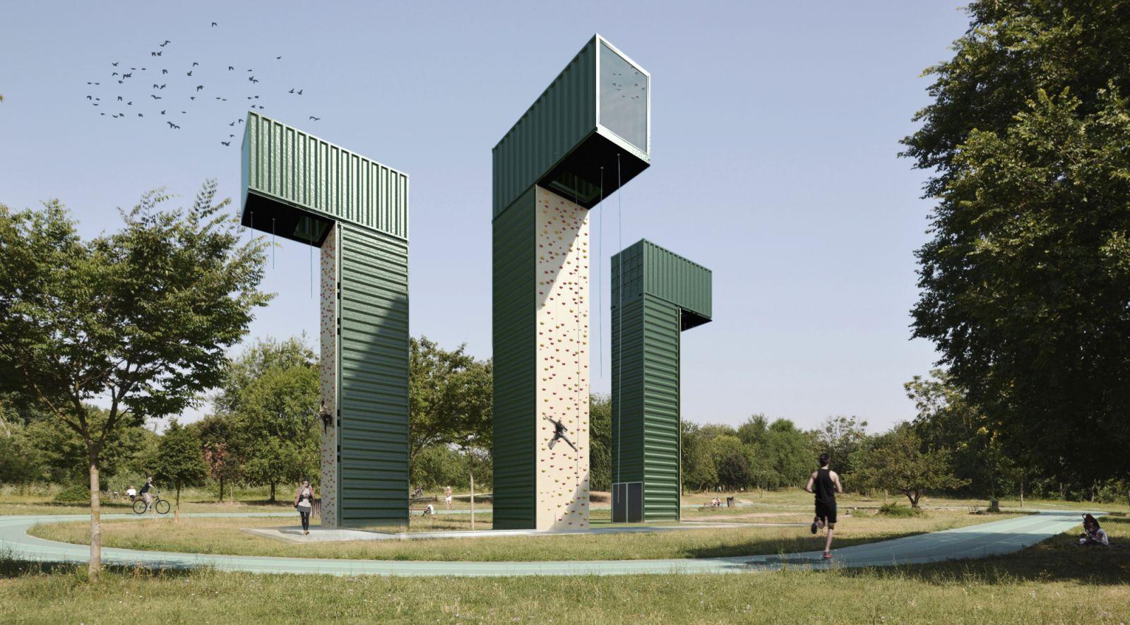 Architettura And Design container sports center by lad laboratorio di architettura e