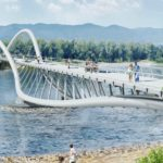 Cycling and Pedestrian Bridge to Tatyshev Island by ADM
