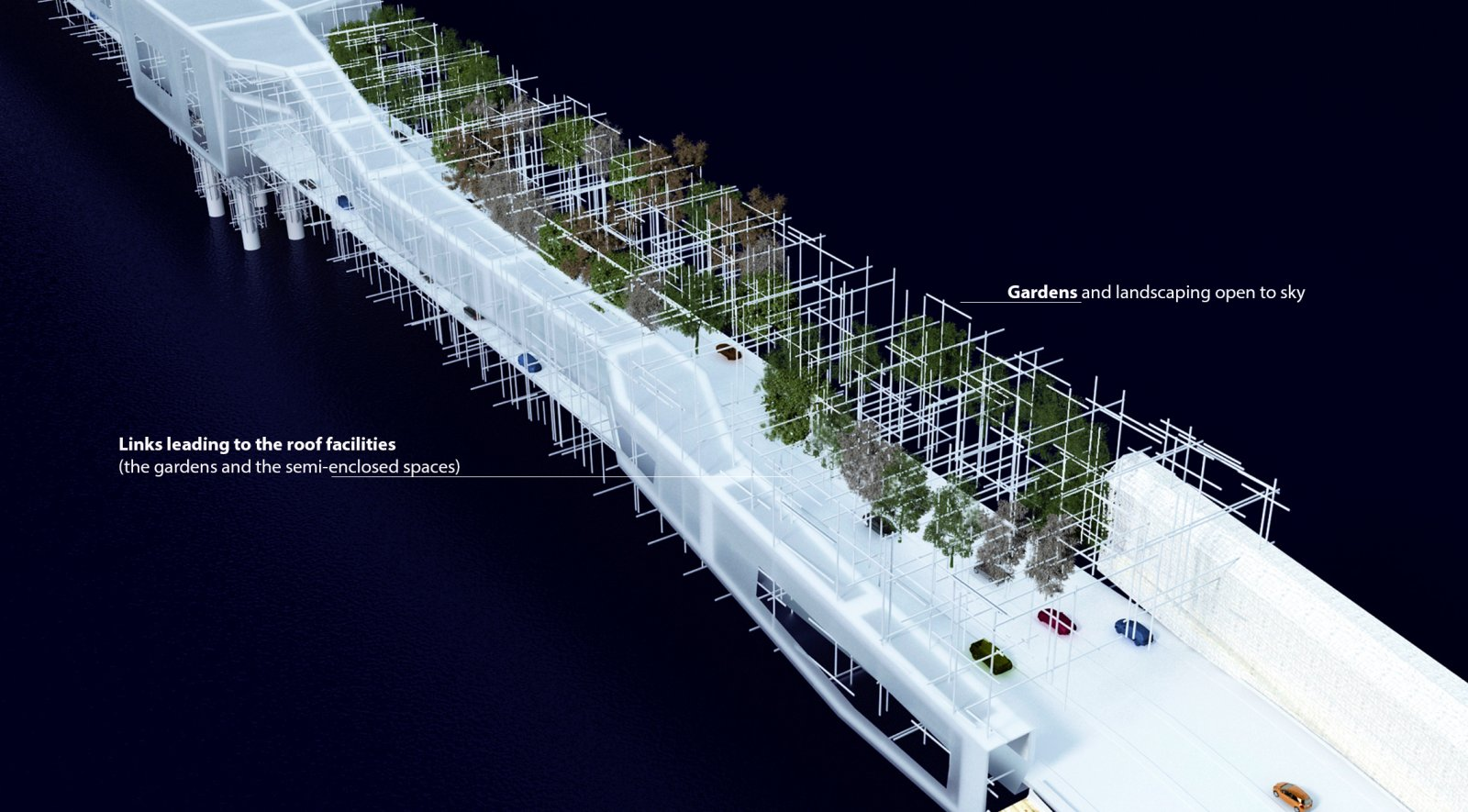 Danjiang bridge design proposal by me architects for Bridge design
