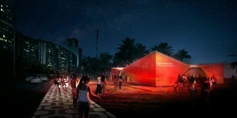 Denmark's Pavilion at Ipanema Beach