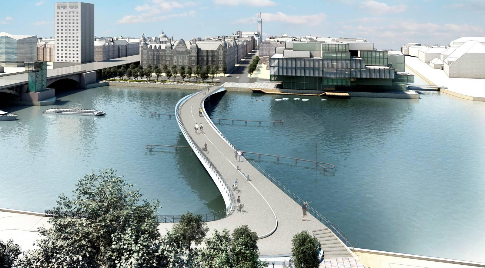 new bridge in central Copenhage