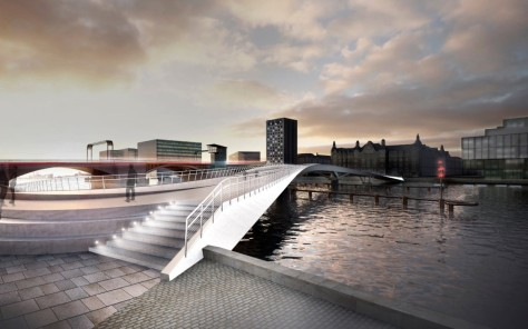 new bridge in central Copenhage