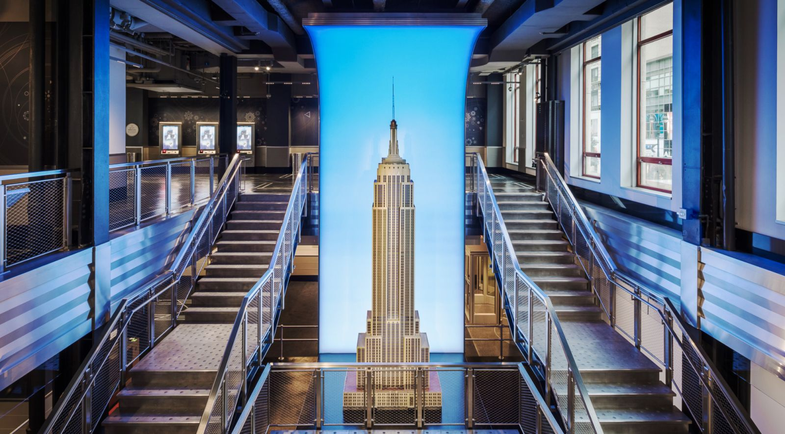 ESB New Entrance, Grand Lobby, and Staircase