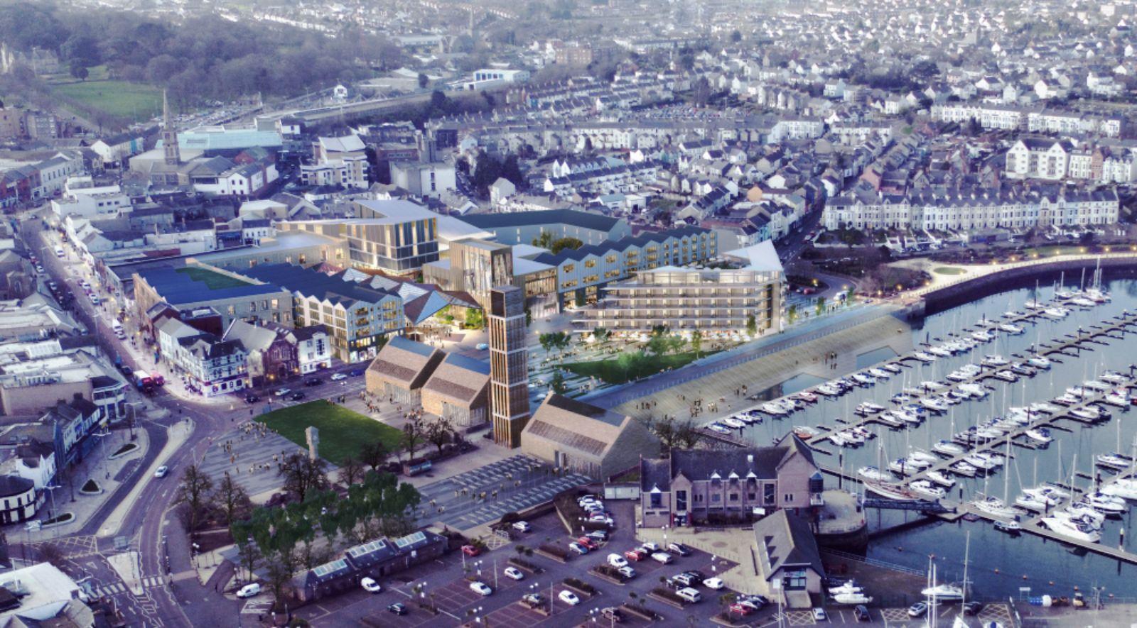 re-development of Queen's Parade in Bangor