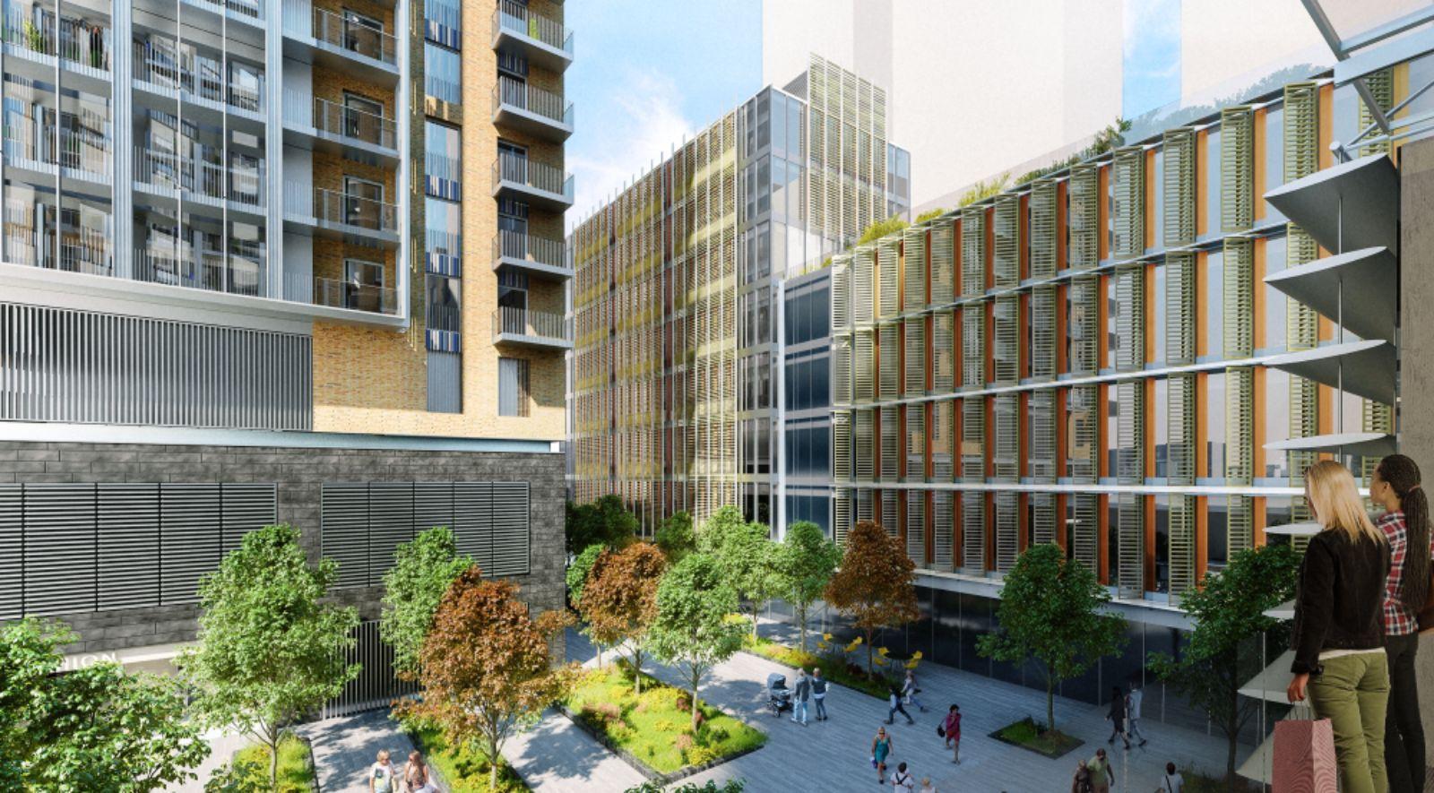 housing development above Nine Elms Station