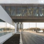 Győr-Gönyű National Public Port Control Building by sporaarchitects