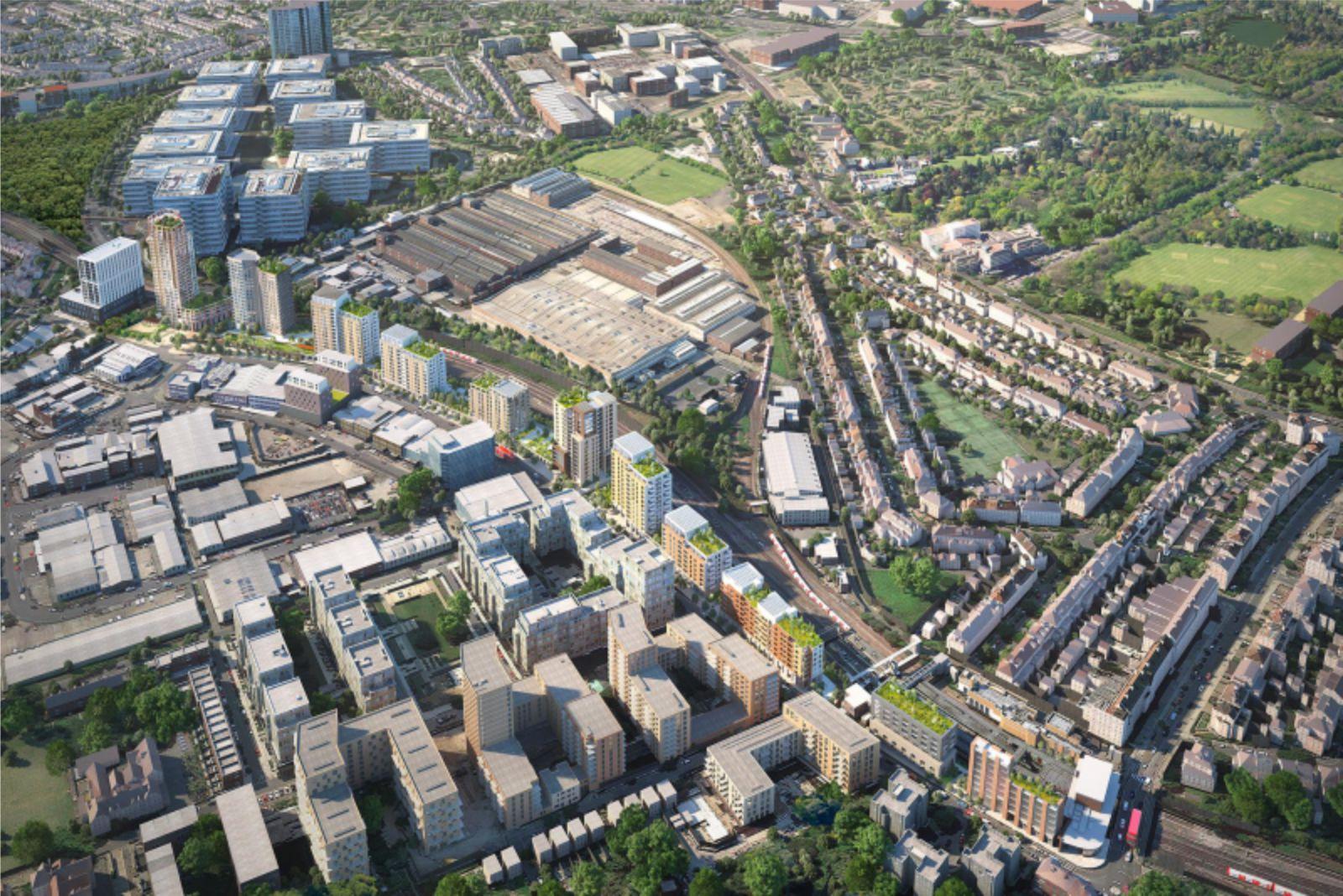 transforms underutilized land along Underground lines