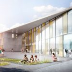 Topping-Out Ceremony at Herningsholm Vocational School by C.F. Møller Architects