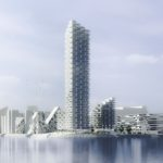 High-rise proposal in Aarhus by Henning Larsen