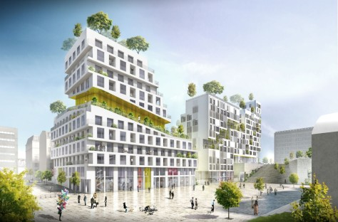 Housing block in Paris ZAC Rive Gauche