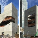 Hunters Point Community Library by Steven Holl Architects celebrates topping out