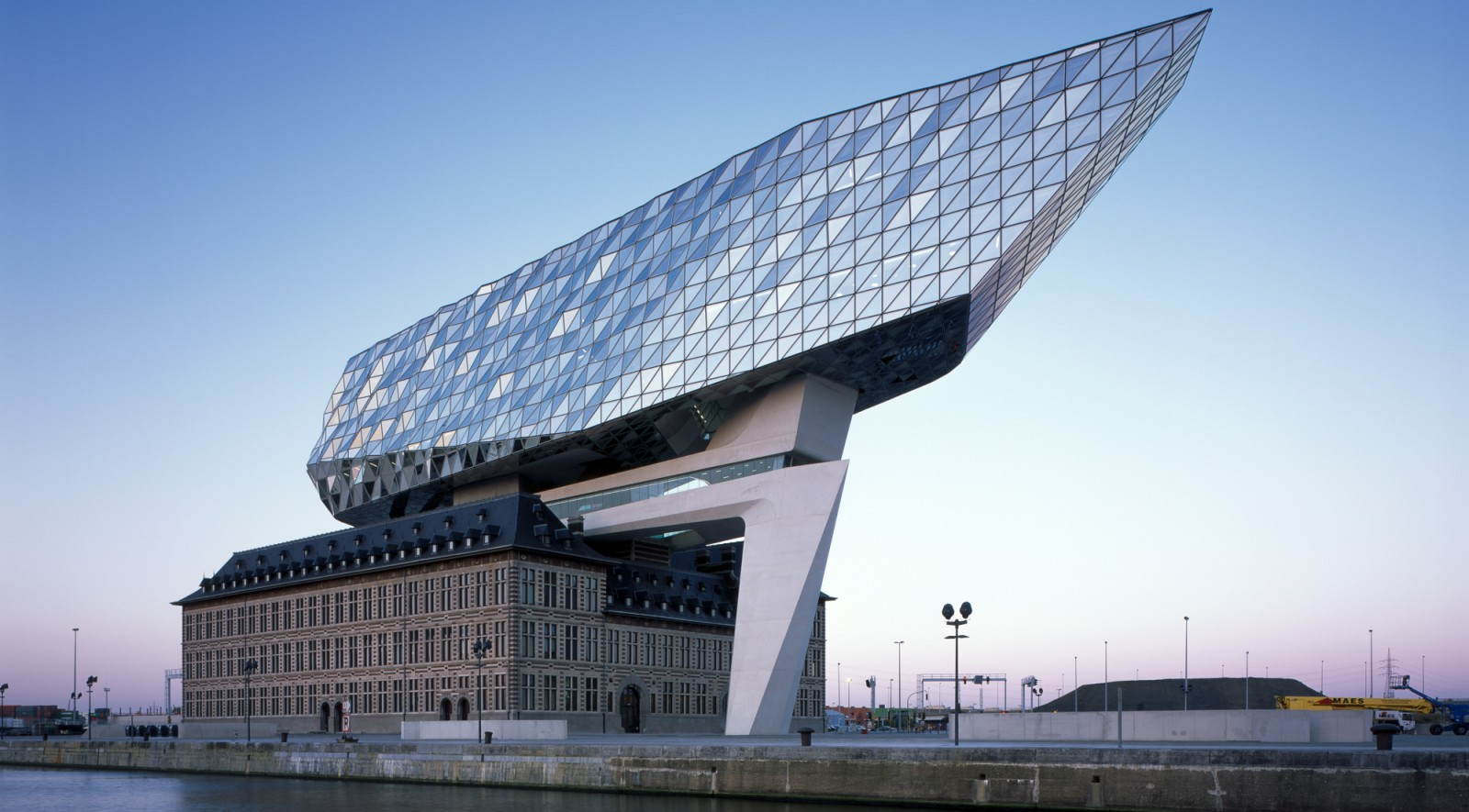 inaugurated port house in antwerp by zaha hadid architects. Black Bedroom Furniture Sets. Home Design Ideas