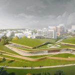 Landscaped sports building in Kerkrade by MoederscheimMoonen Architects