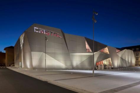 Le Cristal Cinema and Michel Crespin Square by Linéaire A