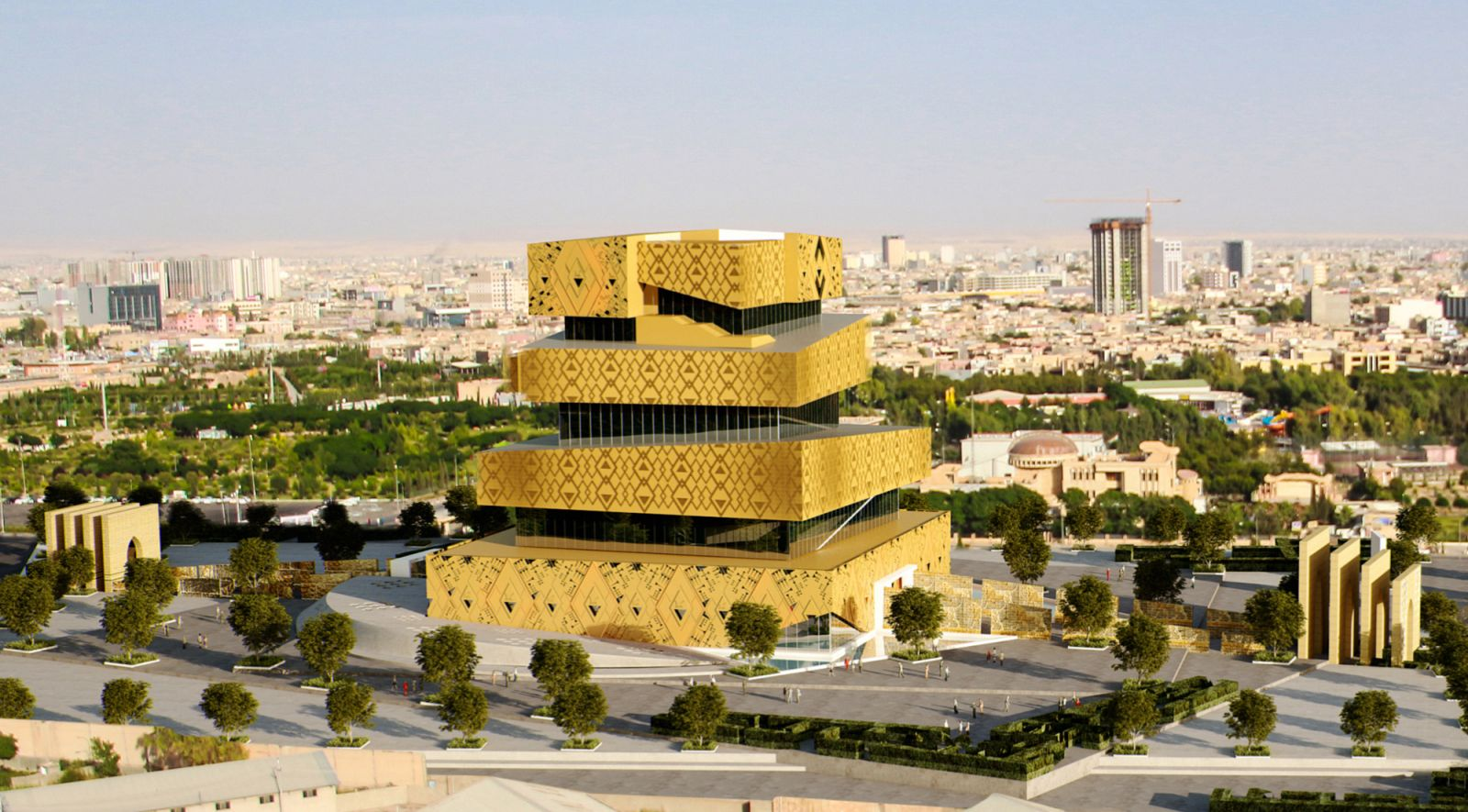 mesopotamian museum by rawand abdulla a as architecture