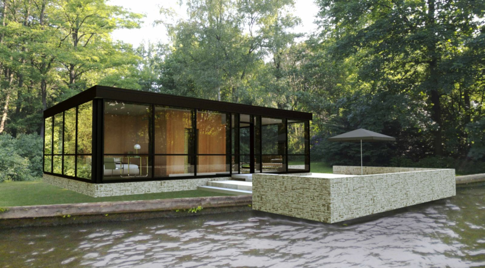 The Glass House Designed By Philip Johnson