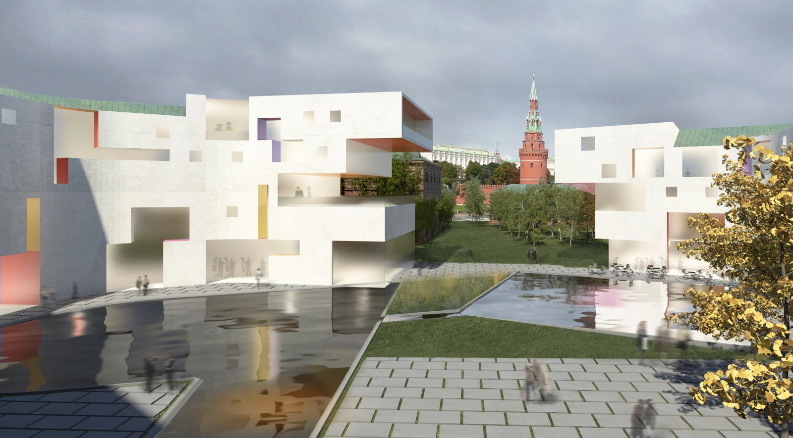 Moscow golden island by steven holl architect for Www architecture