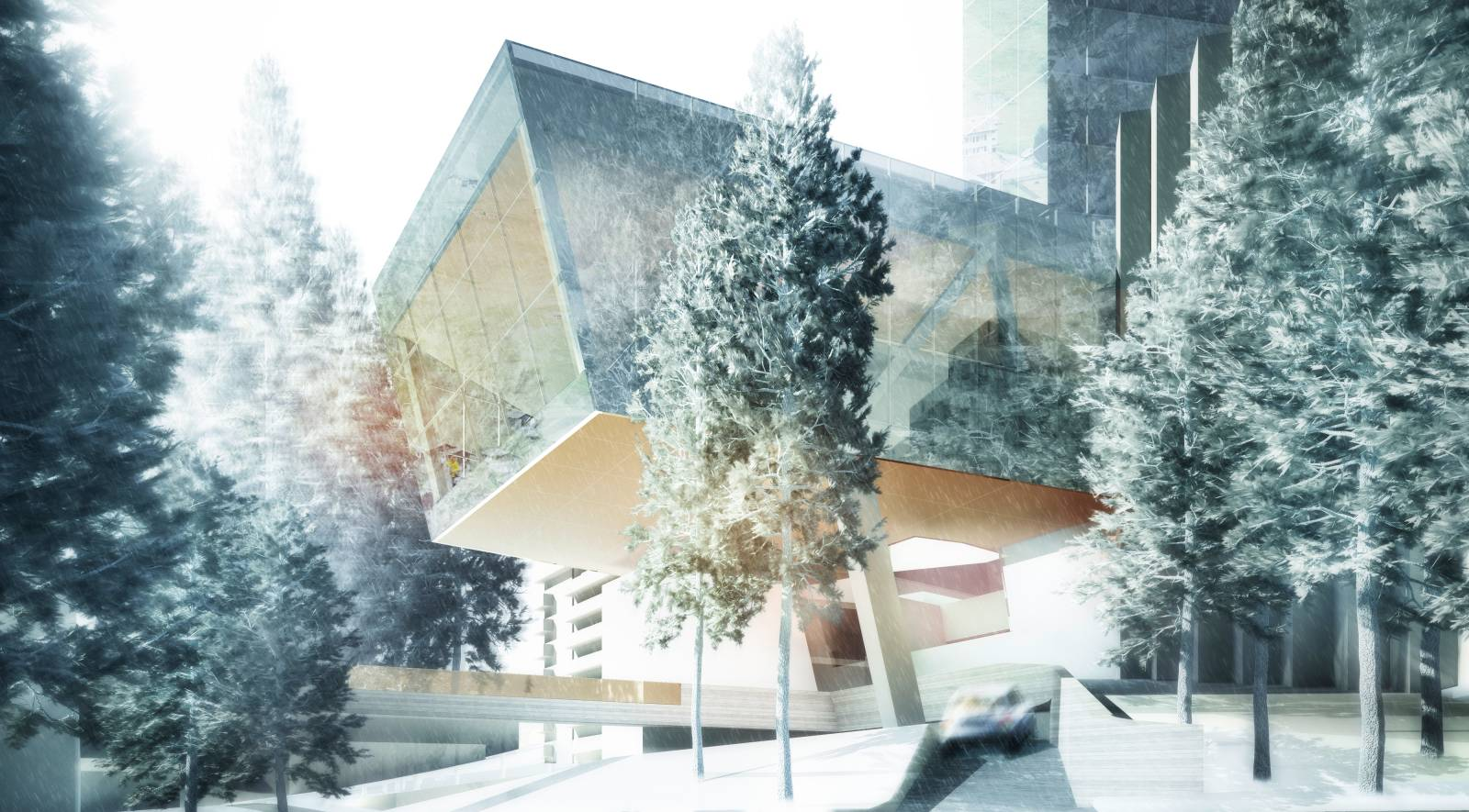 New 7132 hotel and arrival vals switzerland by morphosis for Architecture 00