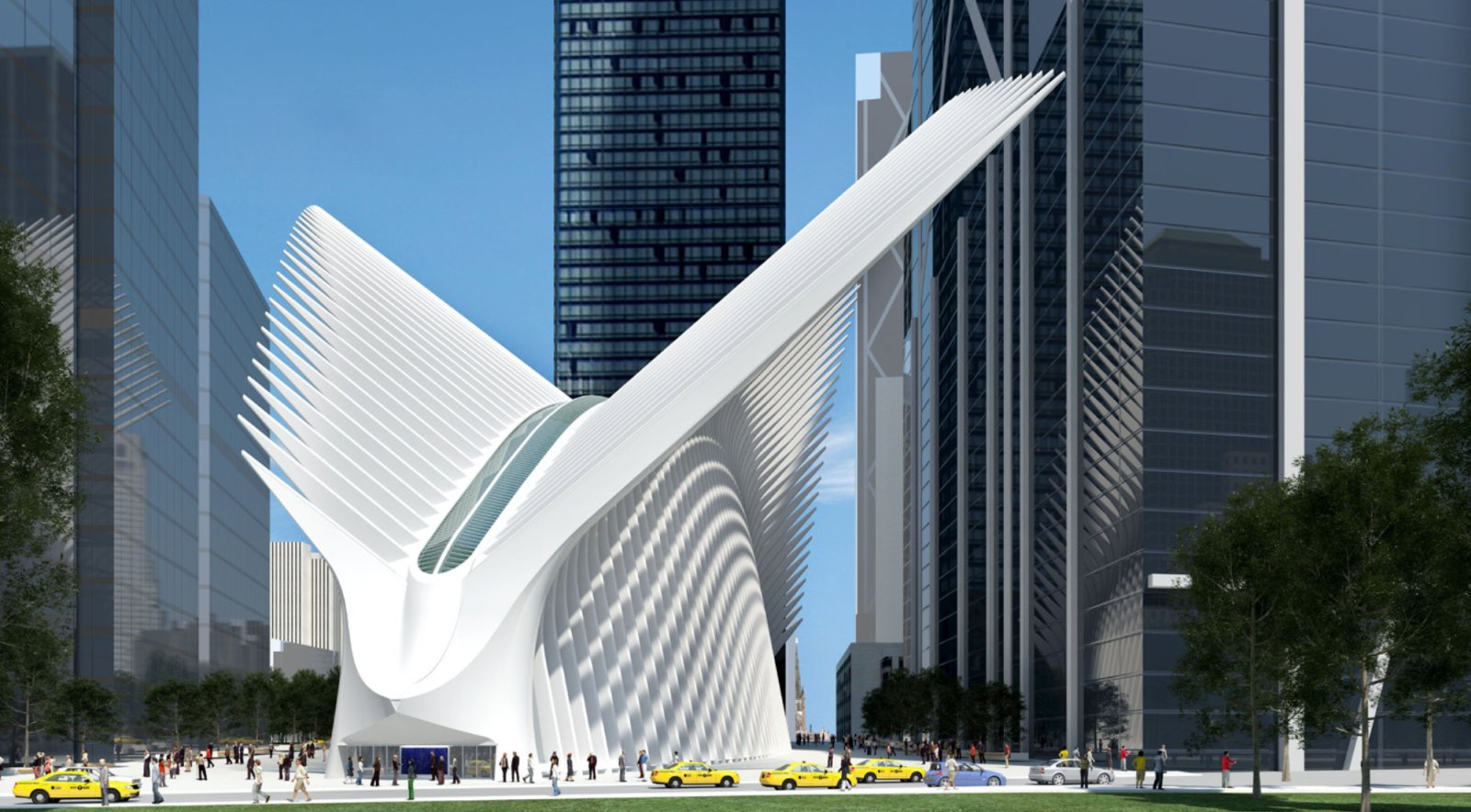 New wtc terminal station for path service by santiago for Ny transit museum store