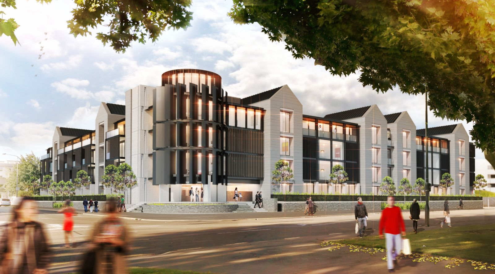 New upmarket apartments in central christchurch by map for Architects christchurch