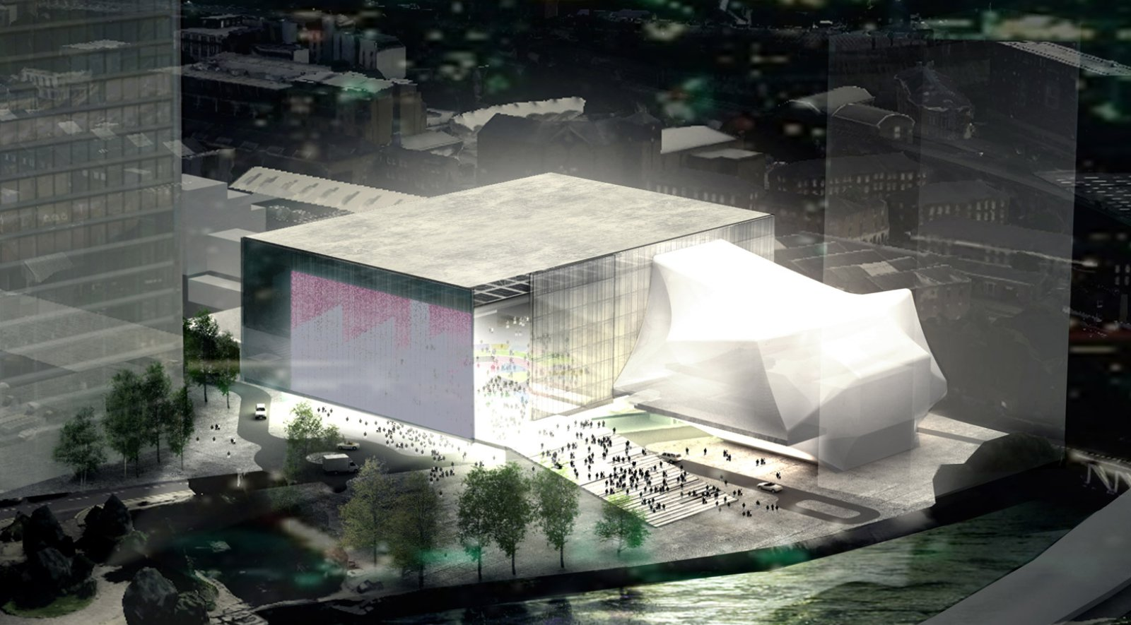 Oma wins the competition to design the factory manchester for Design manchester