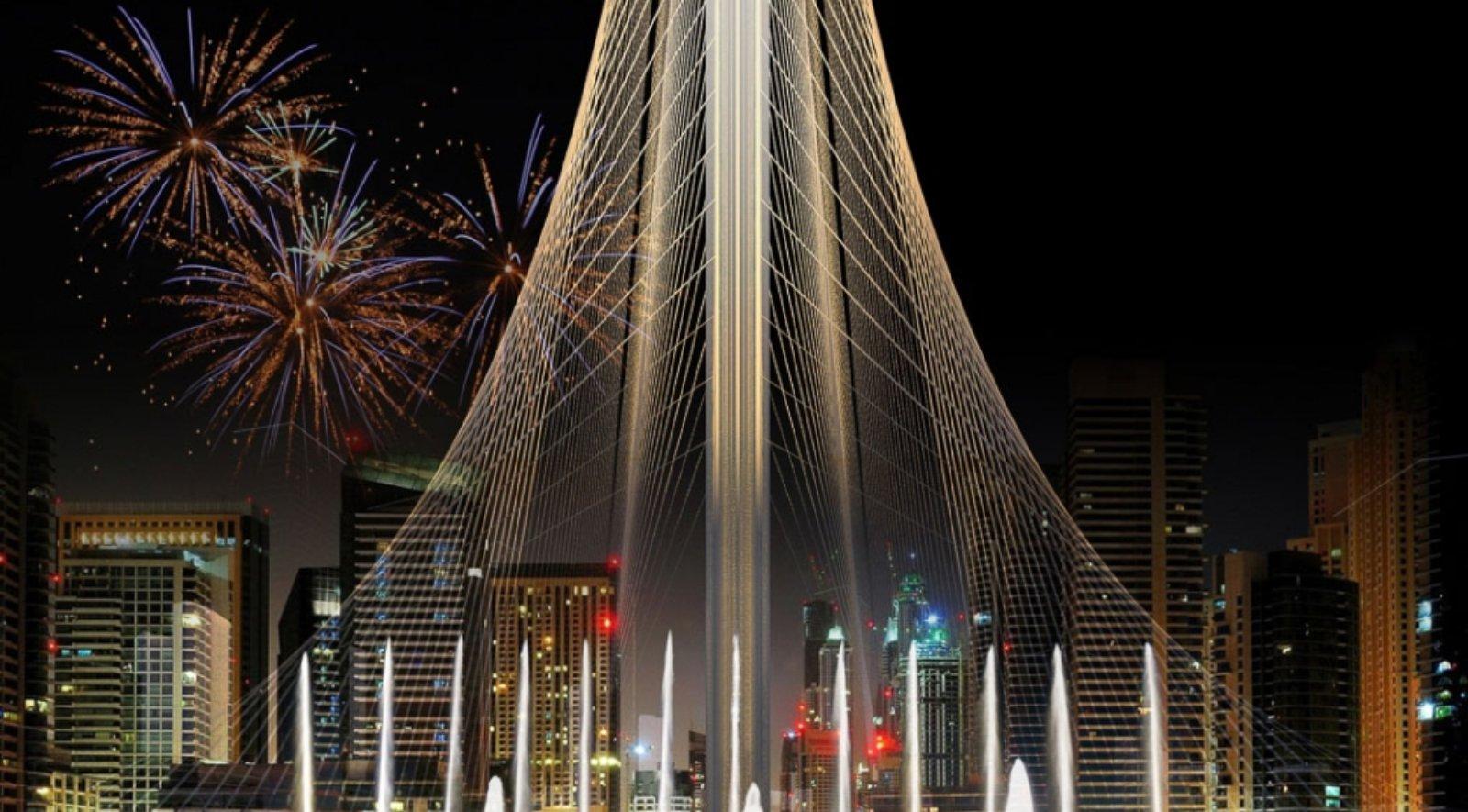 observation tower in Dubai Creek Harbor