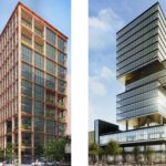Office Towers in Water Street Tampa by COOKFOX Architects and the other by Gensler