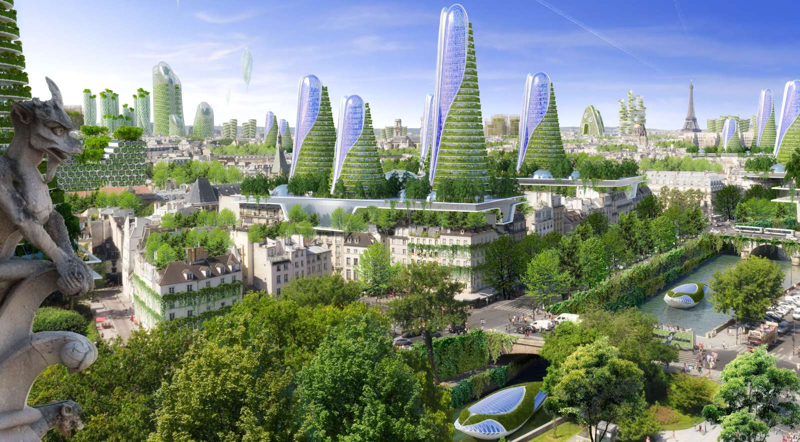 Paris smart city 2050 by vincent callebaut architectures for Architecture futuriste ecologique