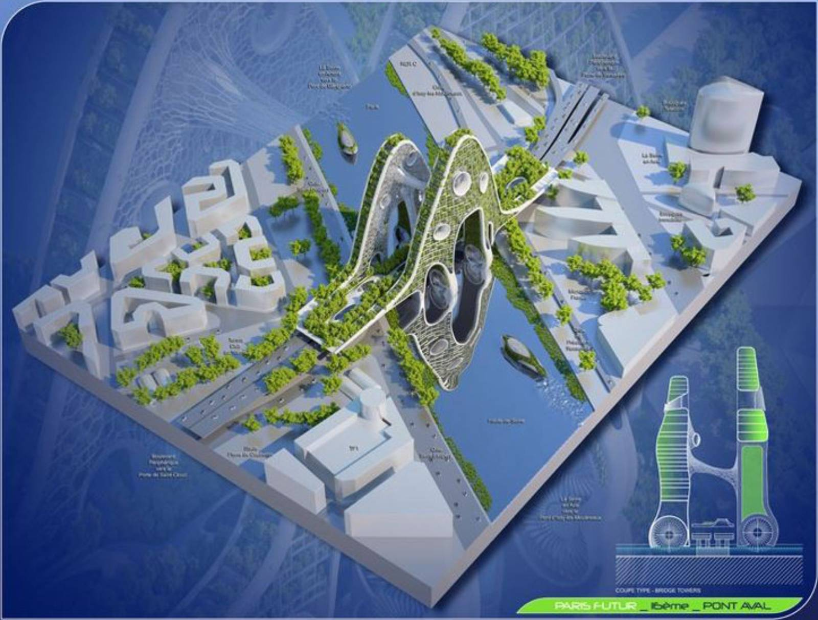 Paris smart city 2050 by vincent callebaut 18 for Architecture 2050