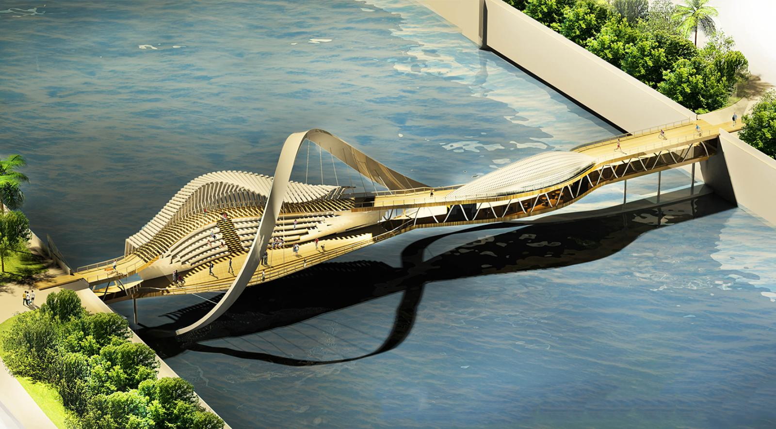 Home Design 3d Two Story Pedestrian Bridge By Mohamed Elbangy