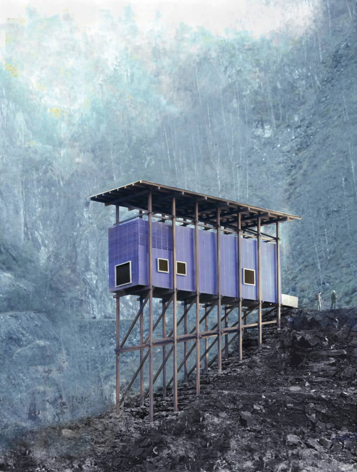 Peter zumthor s zinc mine museum next open in norway 04 for Architecture zinc