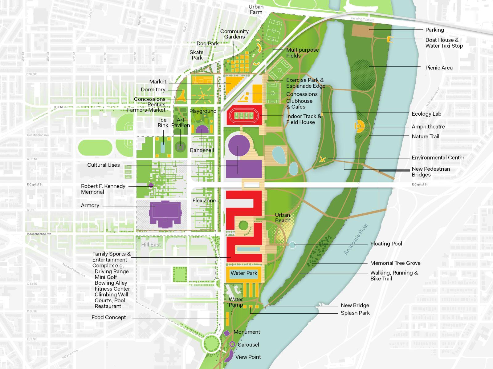 Rfk Stadium Armory Campus Masterplan Concepts By Oma 19