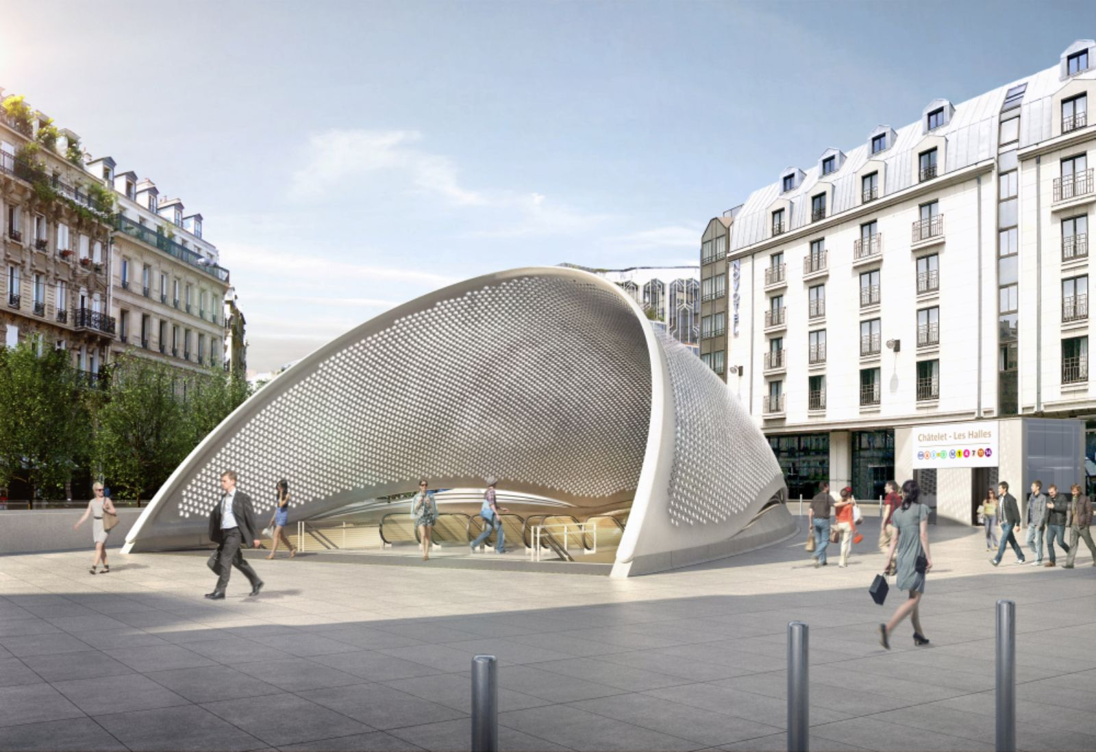 Redevelopment of les halles station by patrick berger and for Berger architecte
