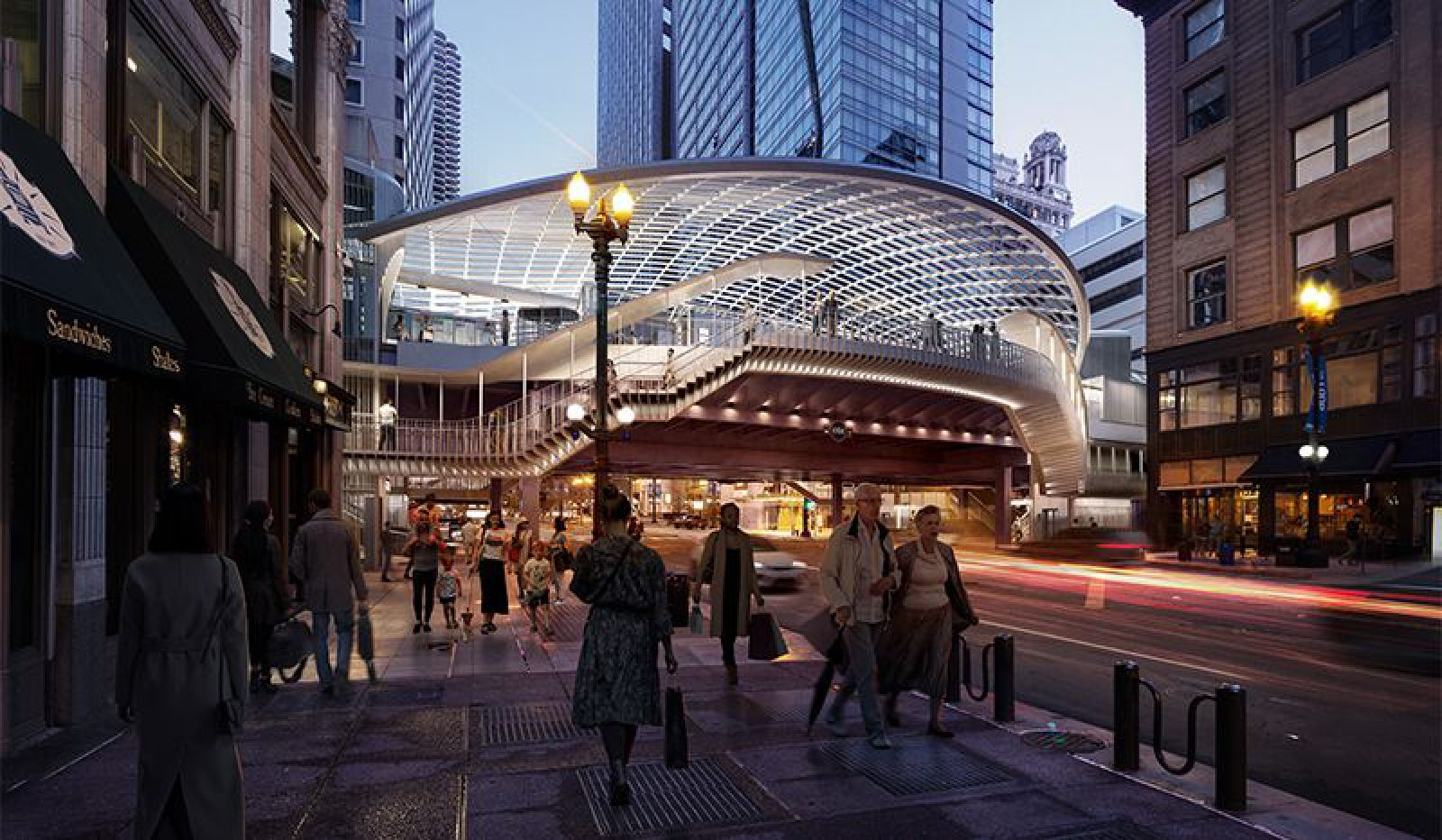 SOM and TranSystems lead redesign of Chicago's State/Lake Station