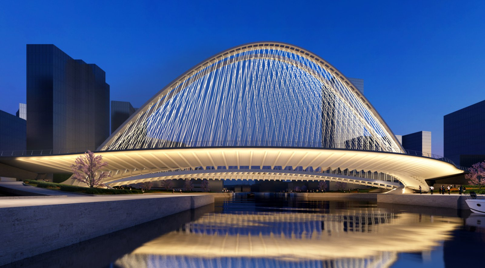 Santiago calatrava designs three bridges in huashan for Architecture 00