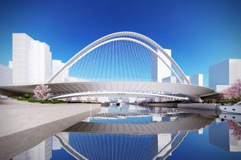 three Bridges in Huashan
