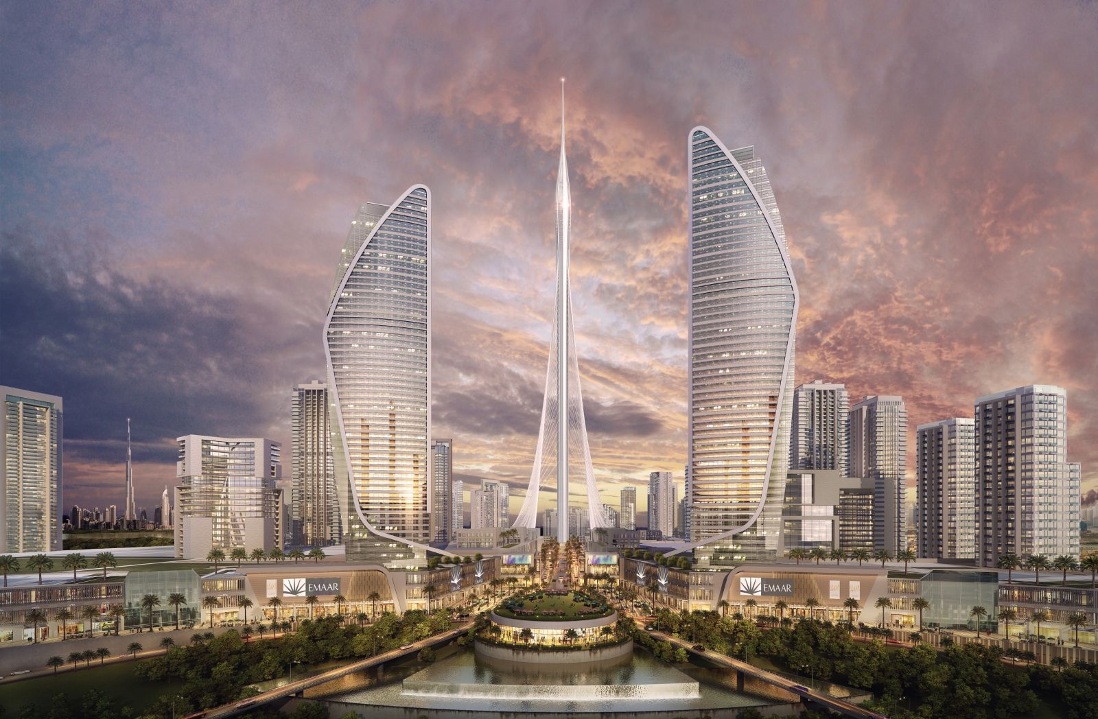 Iconic Tower in Dubai Creek Harbour