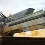 Solar Cluster/Heliostat Sand Turbine Hotel by Margot Krasojevic
